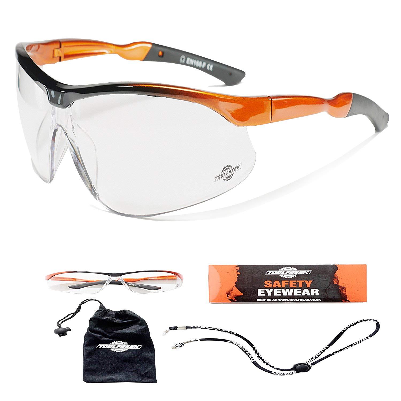 Gafas de Seguridad ToolFreak Agent con Protección UVA para Hombres y Mujeres (Agent - Transparente)