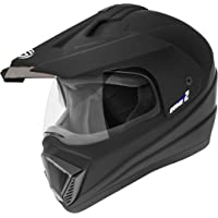 Gliders. Motocross Helmet MC2 (Matt Black with Tinted Visor, 600 mm)