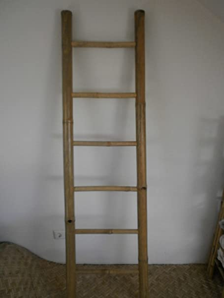 Kienlam - Toallero de Pared (Madera de bambú, Madera de bambú), diseño de Escalera de Mano: Amazon.es: Hogar