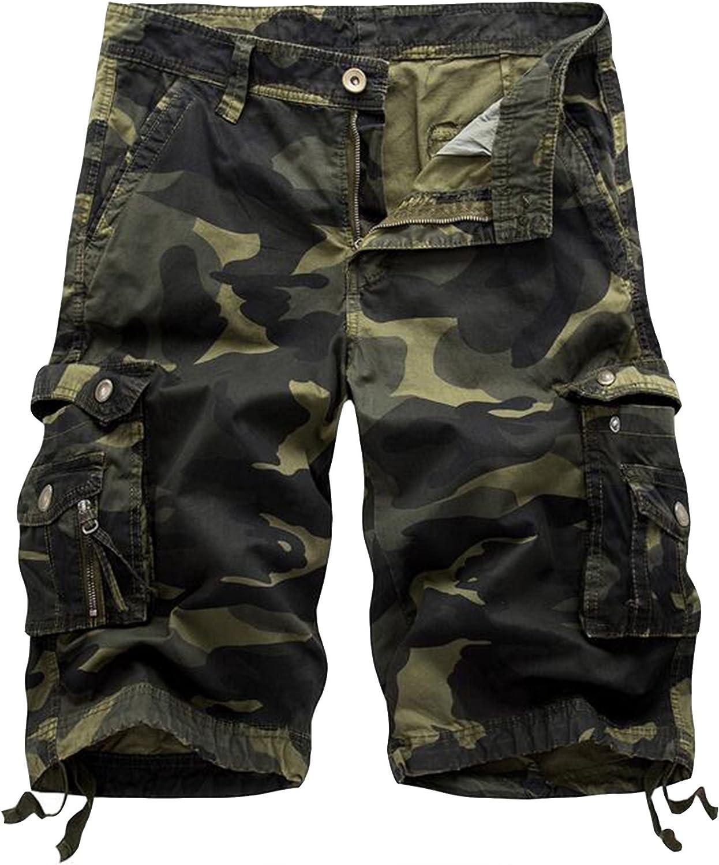 Army Green Camo 40 Winoto Mens Camo Cargo Shorts Multi Pockets Camouflage Twill Cargo Short
