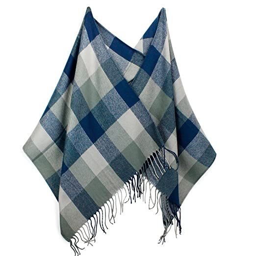 d440852e04784 Image Unavailable. Image not available for. Color: OCT17 Plaid Scarf Women  Pashmina Wrap Large Warm Soft Shawl ...