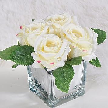 Merveilleux LKMNJ Fleurs Artificielles Fleurs Du0027émulation Roses Fleurs Artificielles  Appartement Hôtel Salon Chambre à Coucher