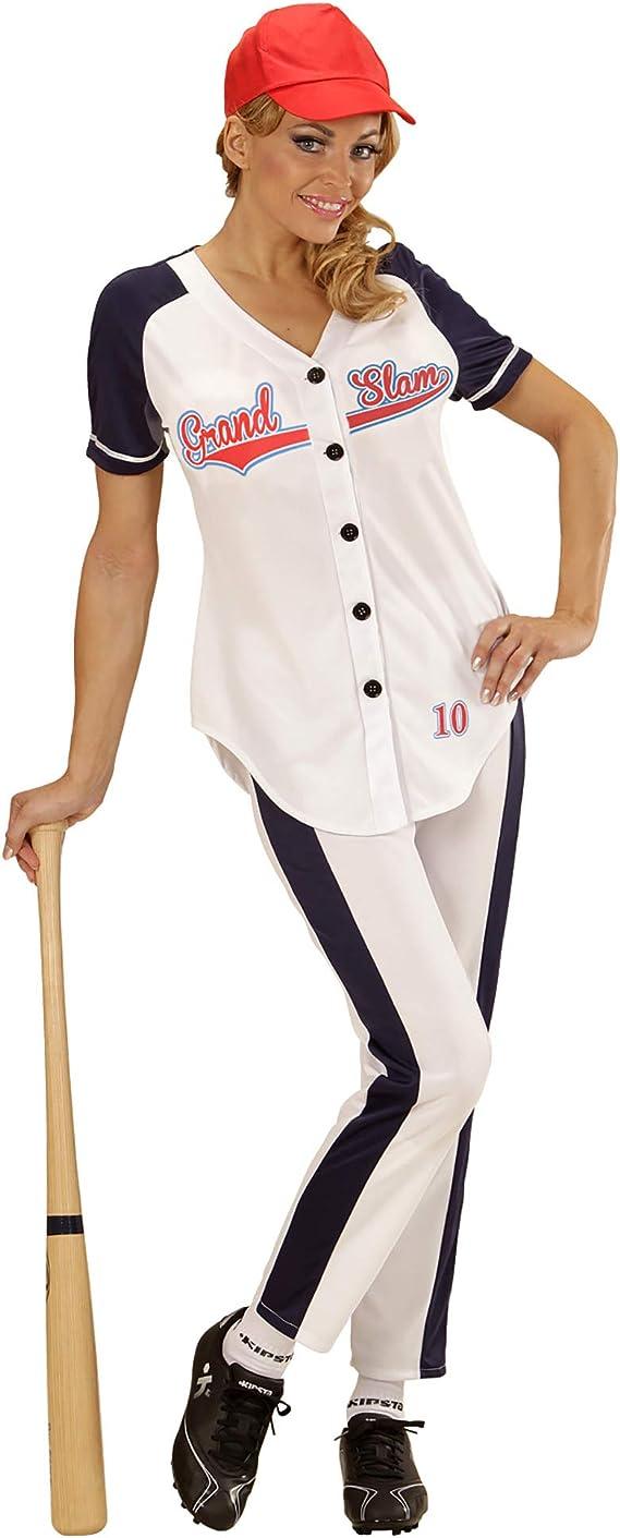 WIDMANN Disfraz de jugadora de béisbol para Mujer - L: Amazon.es ...