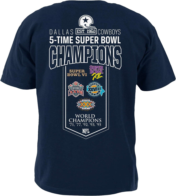 2XL NFL Dallas Cowboys Mens 60th Anniversary Cotton Tee Navy