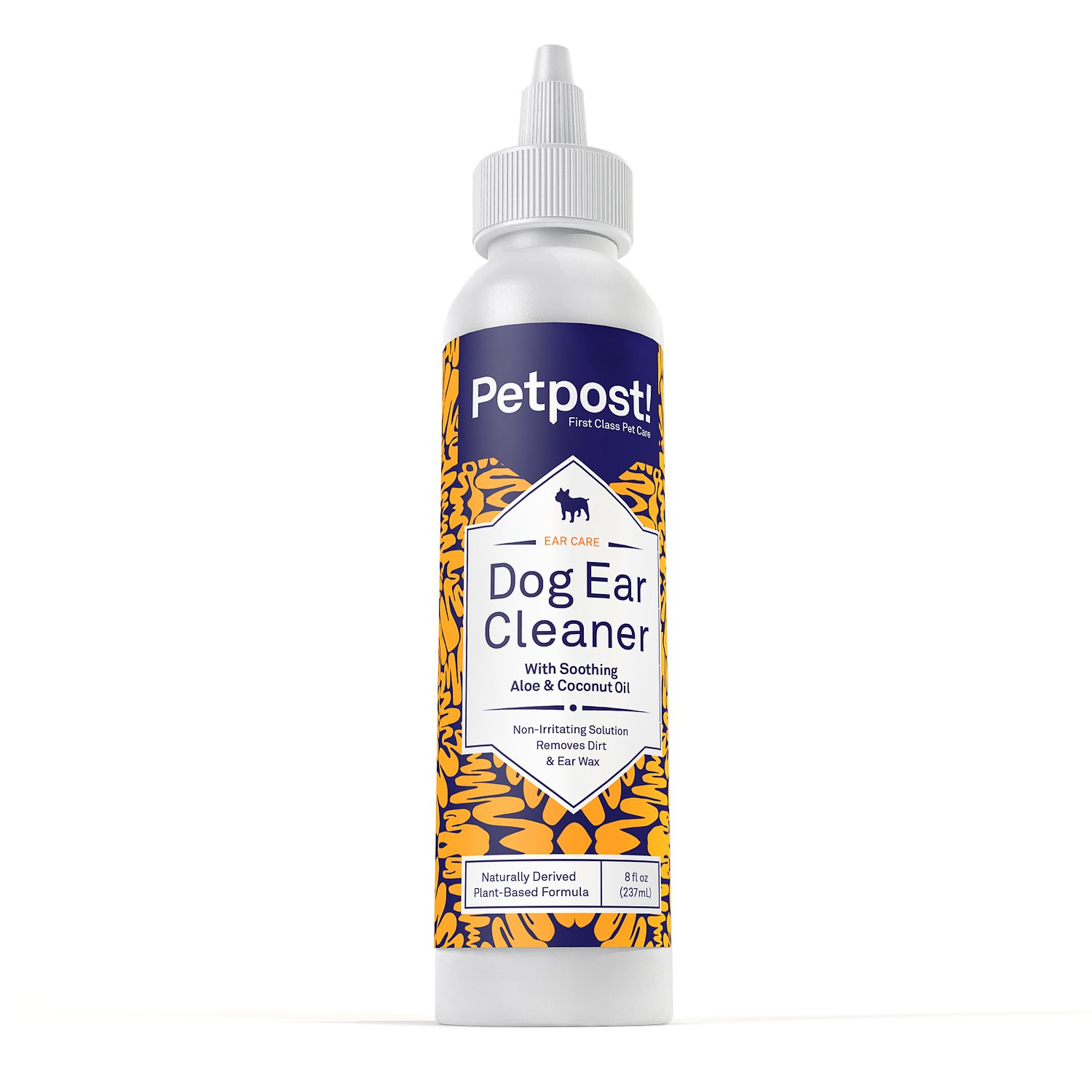 Petpost Dog Ear Cleaner - Natural Coconut Oil Solution - Best Treatment for Dog Ear Mites, Yeast and Ear Infection Causing Wax - Alcohol & Irritant Free - 8 Oz.