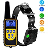 YISENCE Dog Training Collar For Large Dog Or Small Dog With 2500ft Remote Control Dog Shock Collar IPX7 Waterproof LCD Display Adjustable Size Luminescent Collar USB Charging …