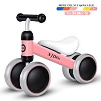 Baby Balance Bikes Baby Toys for 1 Year Old Boys Girls 10-24 Months Cute Toddler First Bicycle Infant Walker Children No Pedal 4 Wheels 1st Birthday Gift