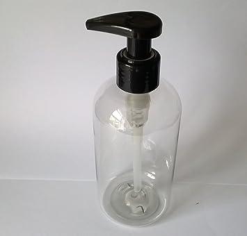 4 botellas de plástico vacías transparentes de PET con dispensador ...