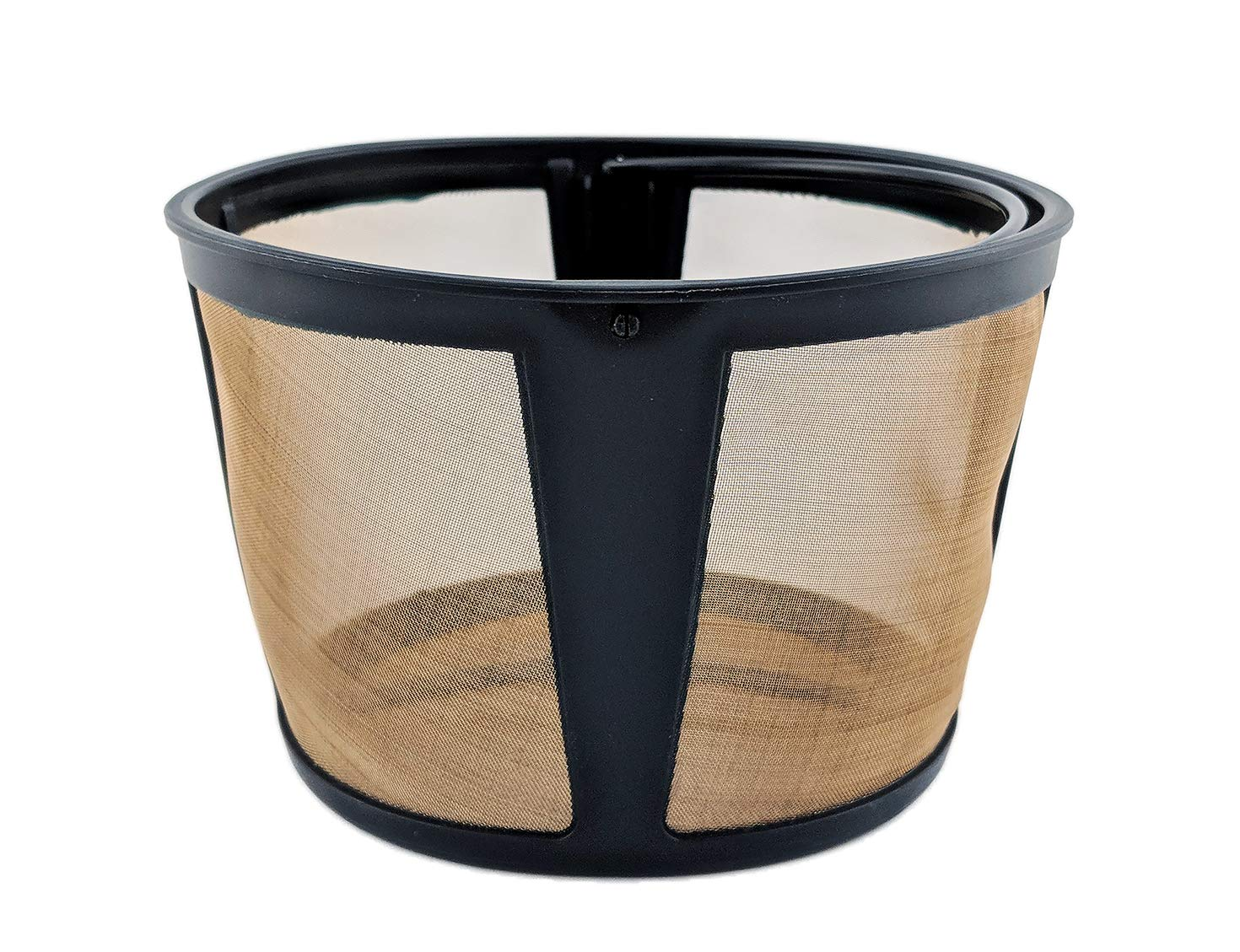 NRP Coffee Permenent Gold-tone Filter for KRUPS EC324 Coffeemaker - Real 14-cup Drip Coffee Filter Basket - also Fits More