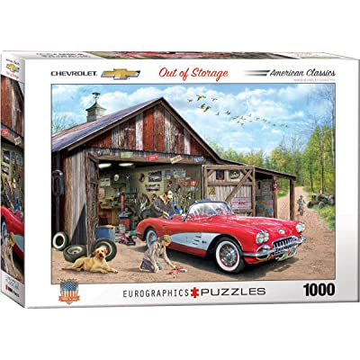 EuroGraphics Out of Storage (1959 Corvette) by Greg Girdano 1000-Piece Puzzle: Toys & Games