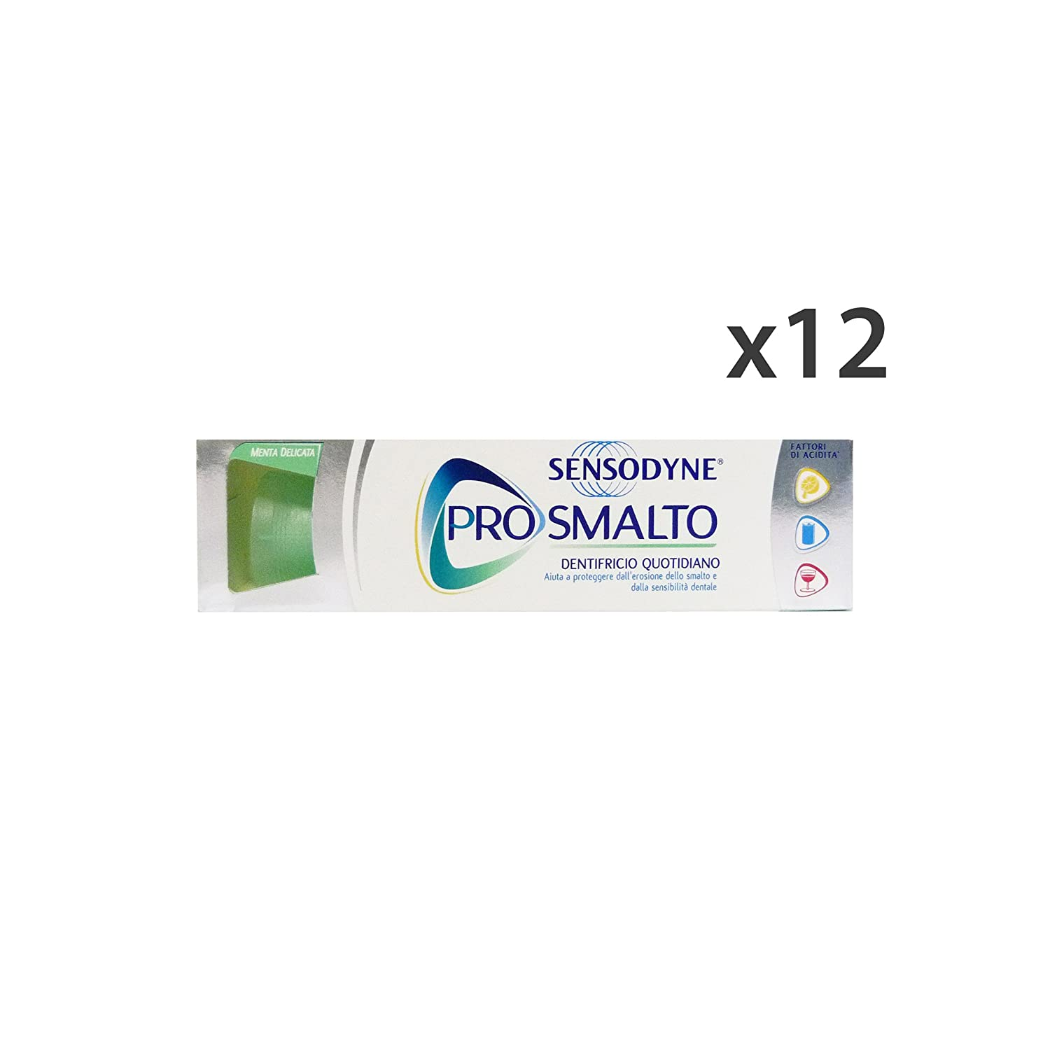 Set 12 SENSODYNE Dentifricio PRO-Smalto 75 Ml. Hautpflege