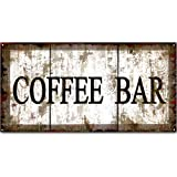 Original Vintage Design, Coffee Tin Metal Wall Art Print Poster, Thick Tinplate Wall Decoration Signs for Coffee Corner/Cafe/