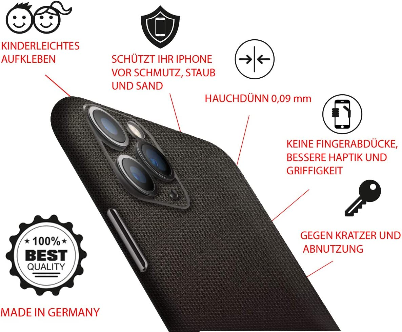 BS SkinUpDesign Kratzfester Aufkleber f/ür iPhone 11 Pro 2019 5,8 Zoll R/ückseite//Hinten kompatibel mit jeder H/ülle oder Case Selbstklebende Skin Anti-Rutsch Anti-Staub Handy-Folie Ultra d/ünn