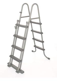 Bestway - Escalera de seguridad para piscinas elevadas, 4 peldaños a cada lado, altura