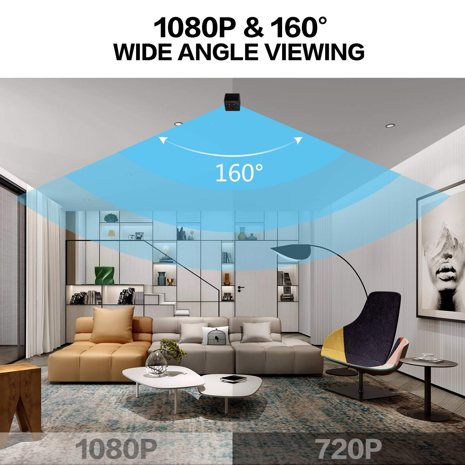 Mini Spy Camera Hidden Nanny Cameras, 2019 1080P HD Night Vision Motion Activated Covert Small Security Camera with Video and Audio for Home, Car, Office