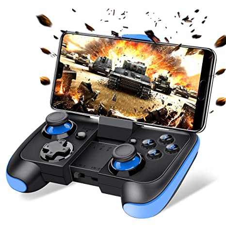 2228c26170dc Amazon.com  BEBONCOOL Android Wireless Game Controller with Clip for  Android Phone Tablet Samsung Gear VR Game Boy Emulator