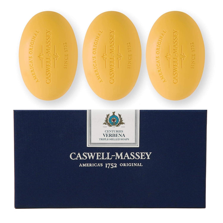 Caswell-Massey Triple Milled Luxury Bath Soap Set - Verbena - 5.8 Ounces Each, 3 Bars