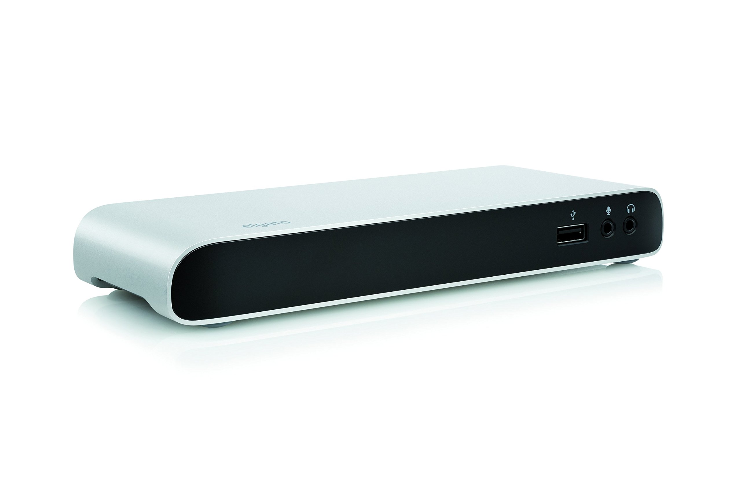 Elgato Thunderbolt 2 Dock with 50 cm Thunderbolt cable, 20Gb/s, 4K support, 2x Thunderbolt 2, 3x USB 3.0, audio input and output, Gigabit Ethernet, aluminum chassis