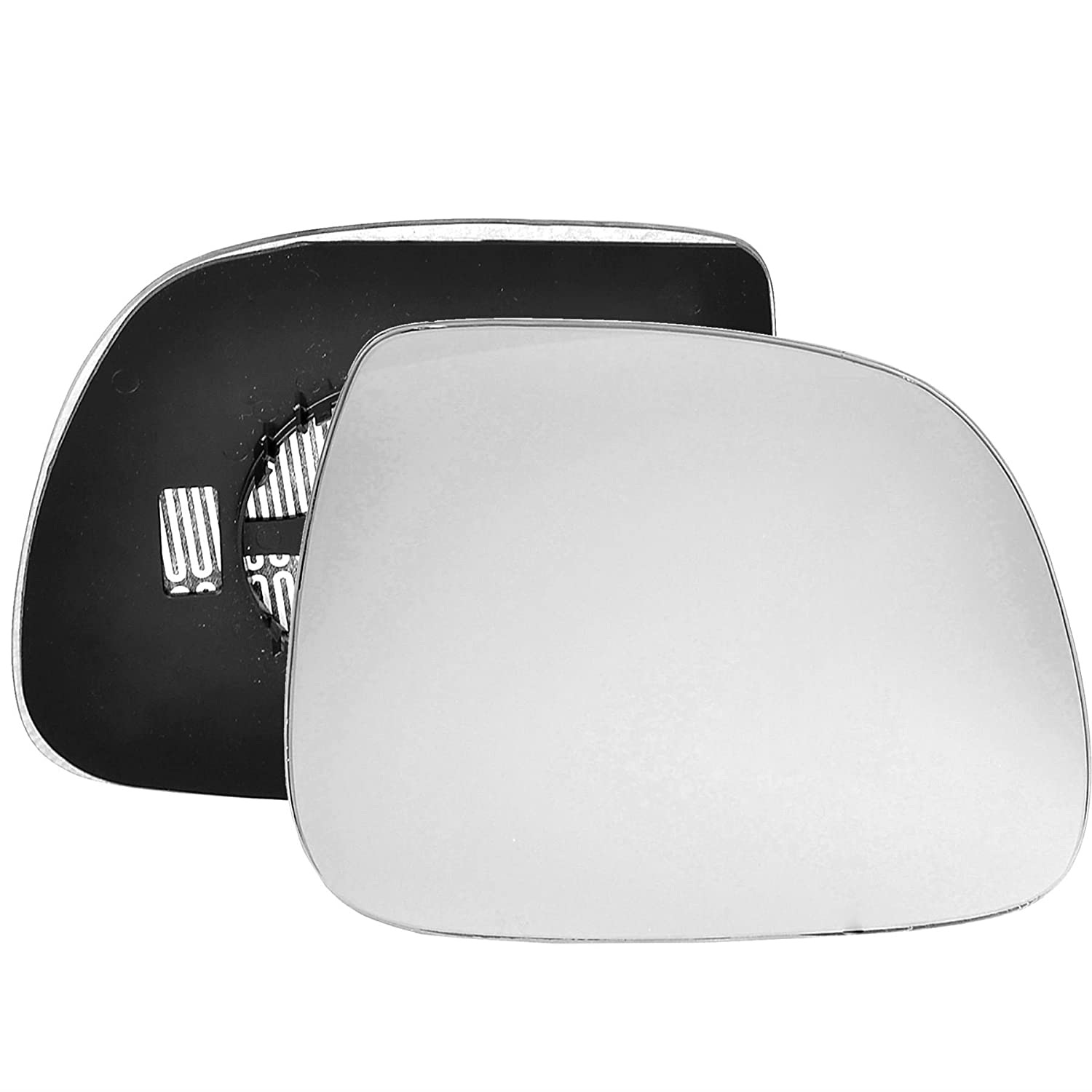Driver right hand side Heated wing door Silver mirror glass with backing plate #C-SHY/R-VWT616 [Clip On] Sylgab