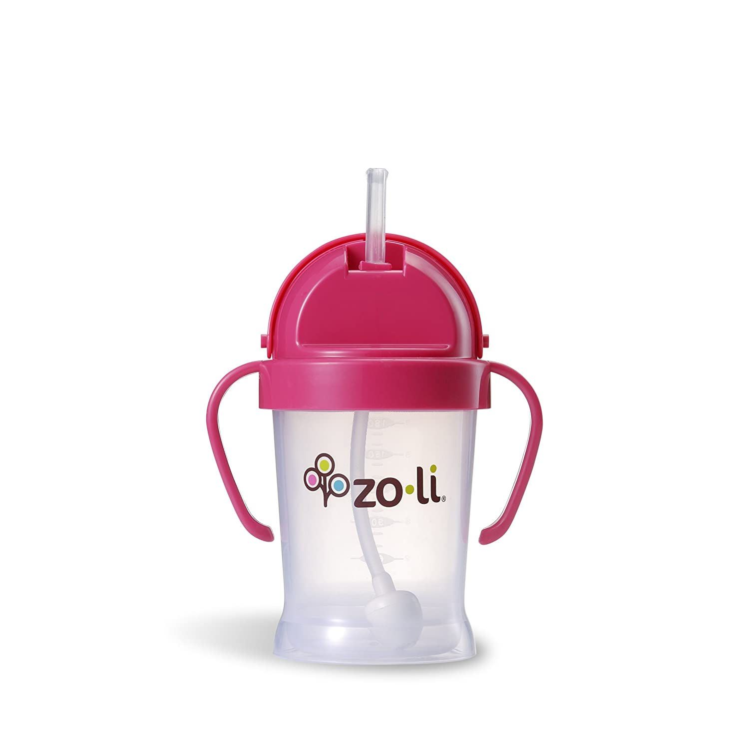 ZOLI BOT Straw Sippy Cup - Pink 6oz A-BF10PPP001