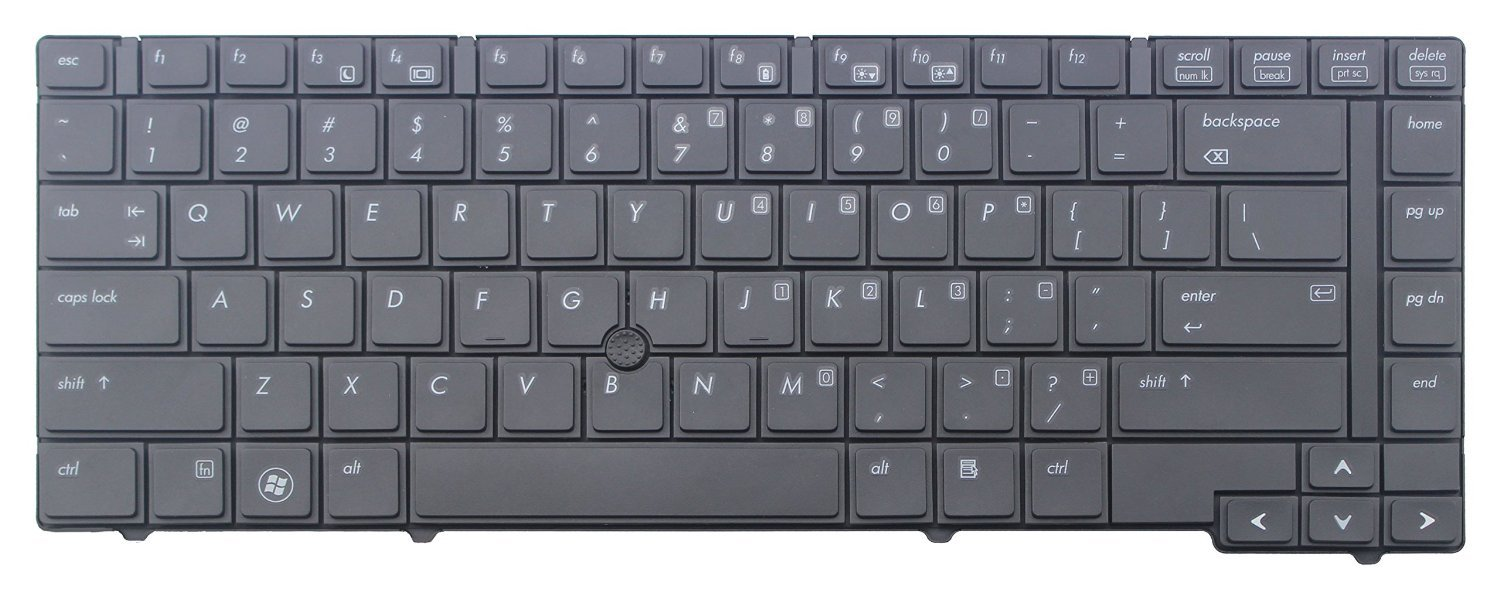 New Laptop English Keyboard with Pointer for HP EliteBook 8440p 8440w Series Black US Laptop Compatible with Part Number 594052-001 598042-001 ndliulei
