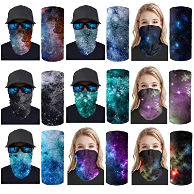 Tupalatus 9 Pack Headwear Wide Headbands 3D Galaxy Space Magic Scarf Women Men Face Shield Mouth Neck Face Protector Seamless Balaclavas Neck Gaiter Sport Bandana for Hiking, Running, Skiing: Automotive [5Bkhe0416227]