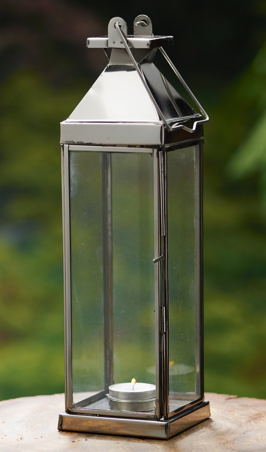 KINDWER Tall Candle Lantern, 14-Inch ihi A1187