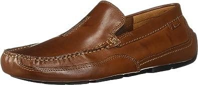 Clarks Men/'s Ashmont Race Leather Moc Toe Slip On Driving Loafer