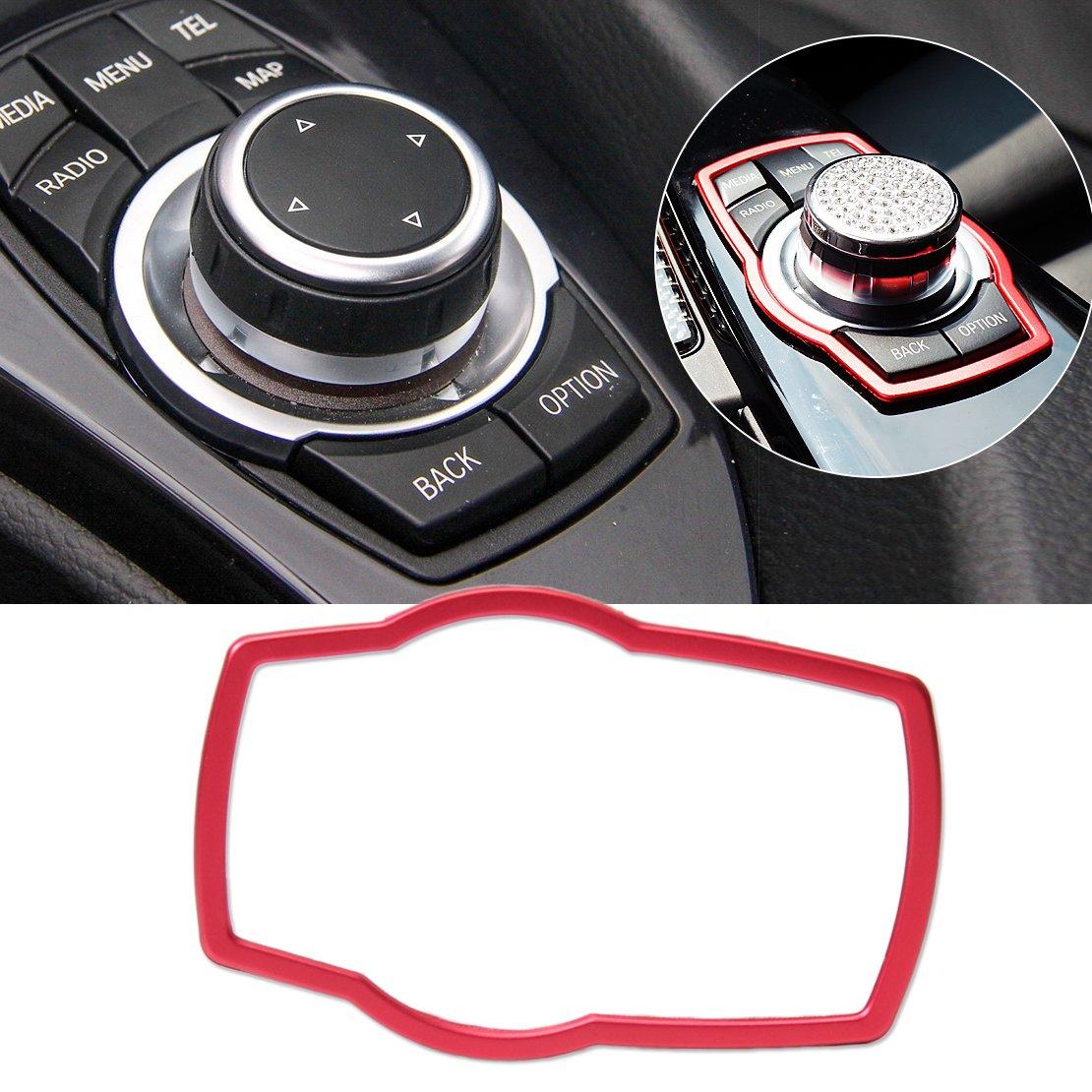 beler Silver Car Interior Multimedia Button Cover Decor Molding Trim Decoration For BMW 1 3 4 5 7 Series X1 X3 X4 X5 X6 hermeshine