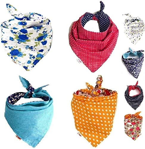 FUN PET 4 Pcs Triangle Dog Bandana Triangle Bibs