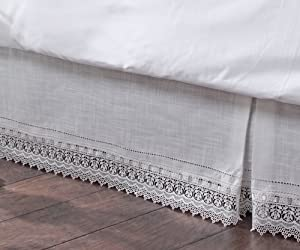Stylemaster Renaissance Home Fashion Sophia Dust Ruffle/Bed Skirt, King, Ivory