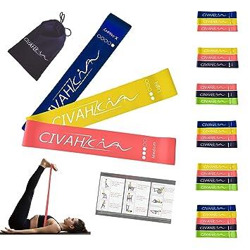 Bandas de resistencia látex natural banda de resistencia Entrenamiento para hysical terapia Yoga Pilates rehabilitación deporte