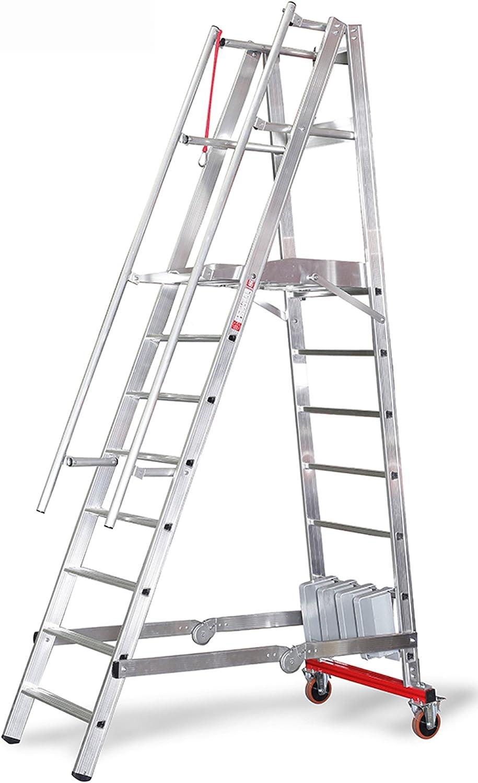Euro Line podio Escalera, ruedas de transporte, plegable, Suspensión estrecho con lastre ierung – 8 peldaños 3277808: Amazon.es: Bricolaje y herramientas