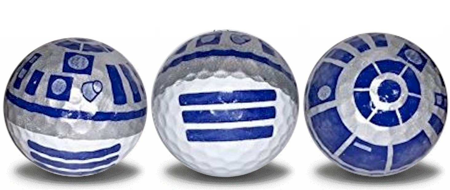 R2D2 Golf Ball 3 pack
