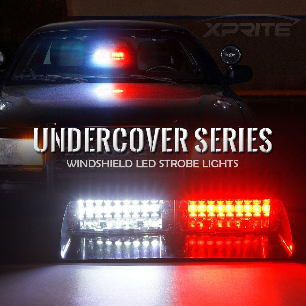 16 LED Car Windshield Light Emergency Hazard Warning Strobe Lights Yellow
