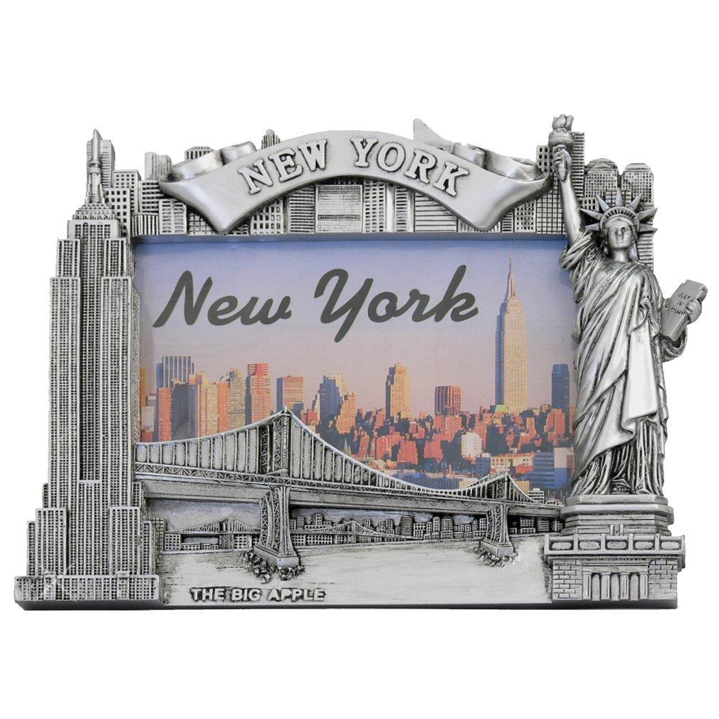 Amazon.de: New York Bilderrahmen - Poly silber, New York Bild Rahmen ...