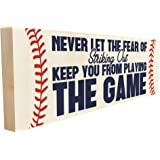 Never Let The Fear of Striking Out Keep You from Playing The Game. Hand-Crafted in Tennessee, This Custom Wood Block…