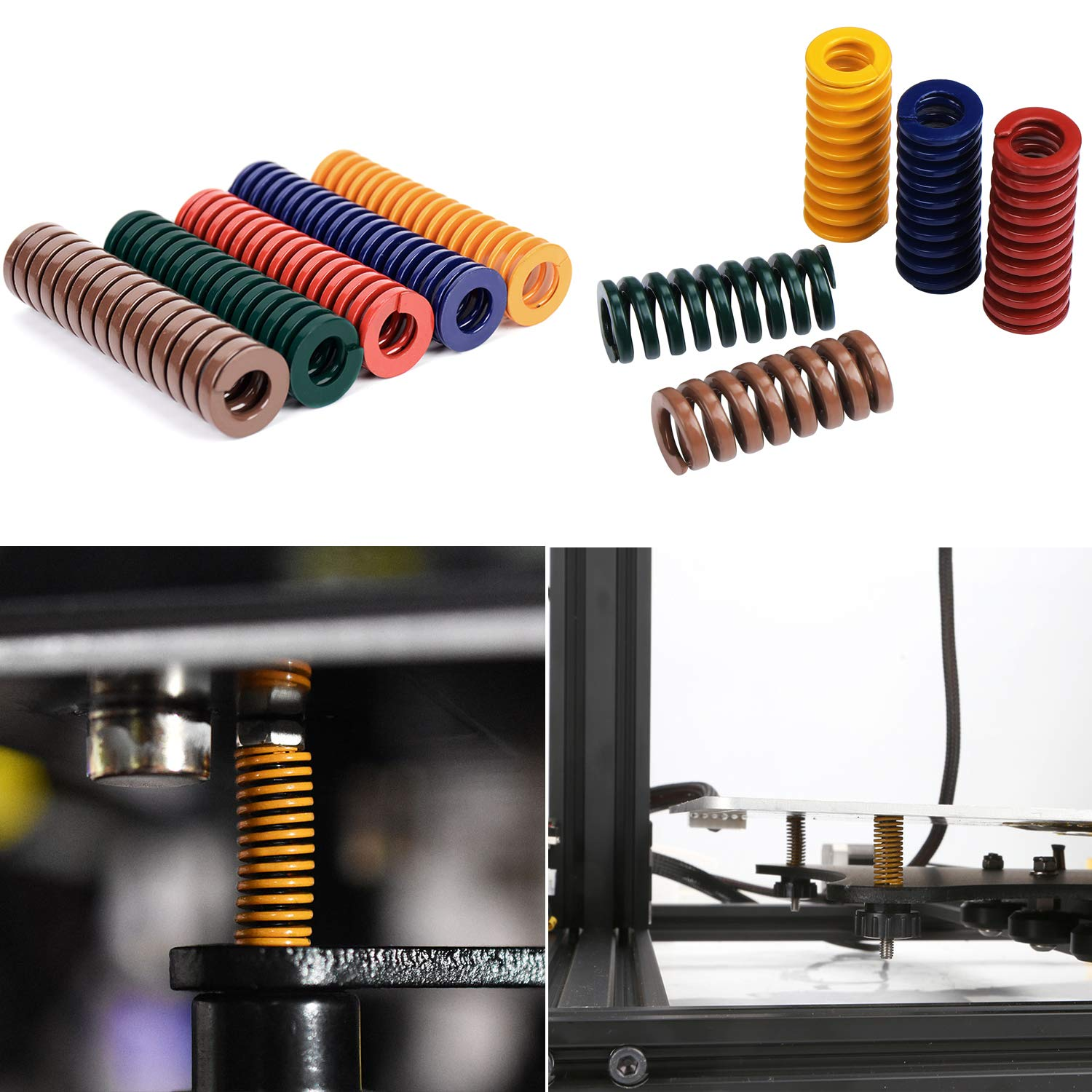 HSEAMALL 3D Printer Spring Heated Bed Leveling Spring Compression Mould Die Springs 20PCS