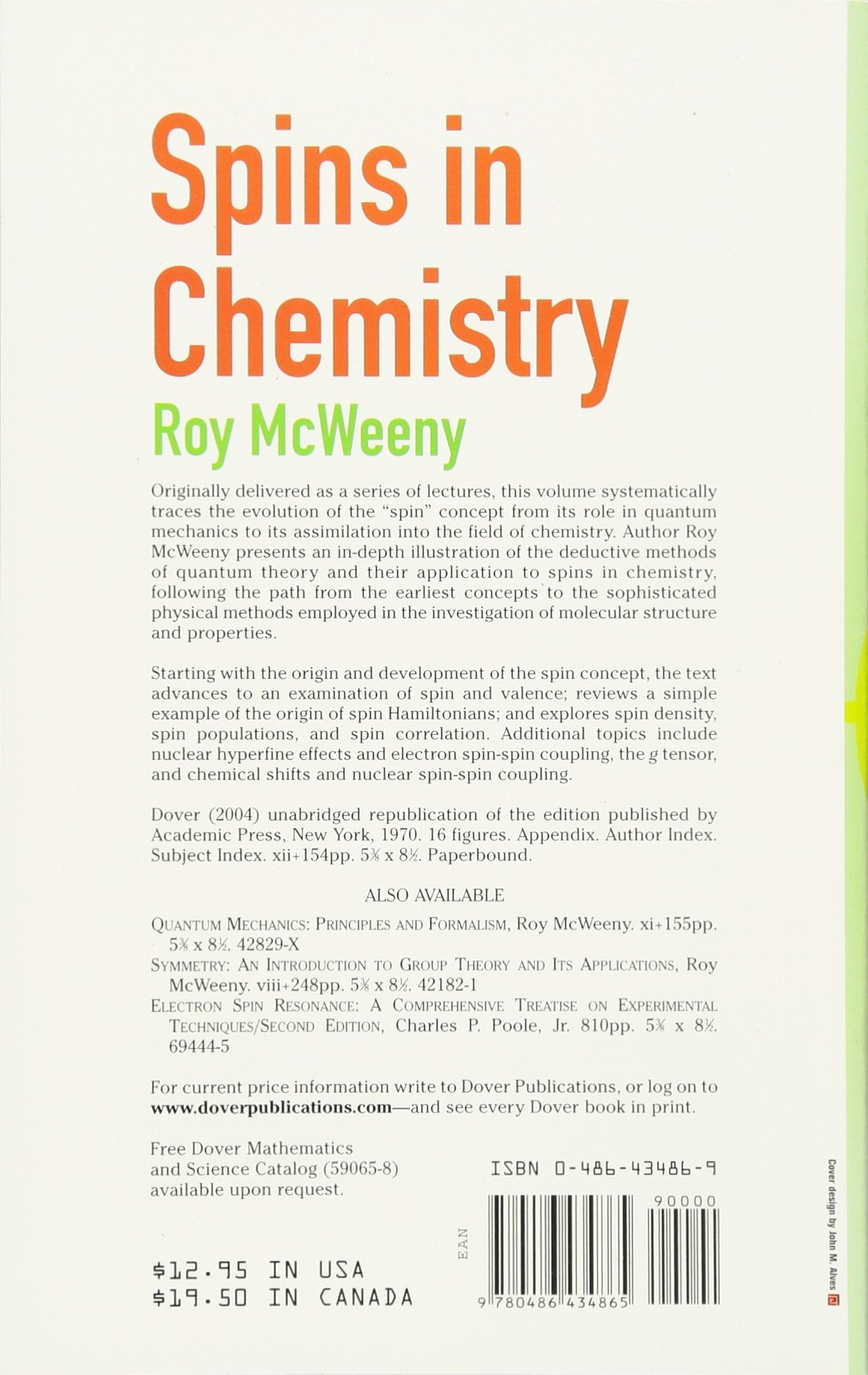 Download PDF Spins in Chemistry (Dover Books on Chemistry)