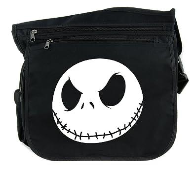 Nightmare Before Christmas Purses Handbags.Jack Skellington Face Evil Grin Sling Messenger Bag Cross