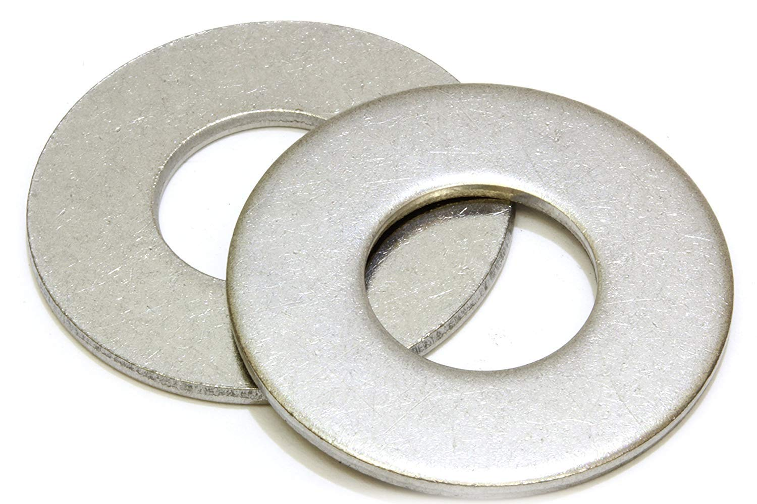 1/4'' Stainless Flat Washer, 5/8'' Outside Diameter (100 Pack)- Choose Size, By Bolt Dropper, 18-8 (304) Stainless Steel
