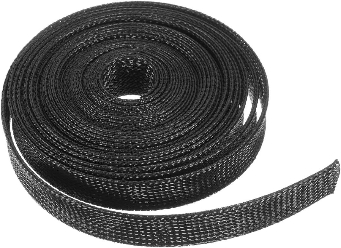 KUNSE 6M 8Mm//10Mm//12 Mm//15 Mm//20 Mm Alambre Cable Forro Expandible Mangas Trenzadas Telar Tuber/ía Negro-8Mm