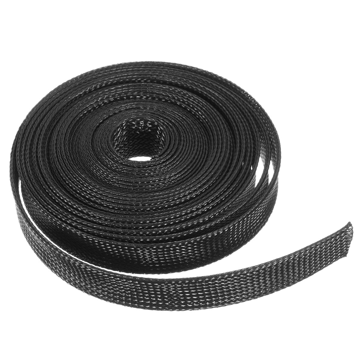 KINGDUO 6M 8Mm//10Mm//12Mm//15Mm//20Mm Wire Cable Sheathing Expandable Sleeving Braided Loom Tubing Black-8Mm