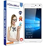 CELLBELL® Tempered Glass Screen Protector For Microsoft Lumia 650 With FREE Installation Kit