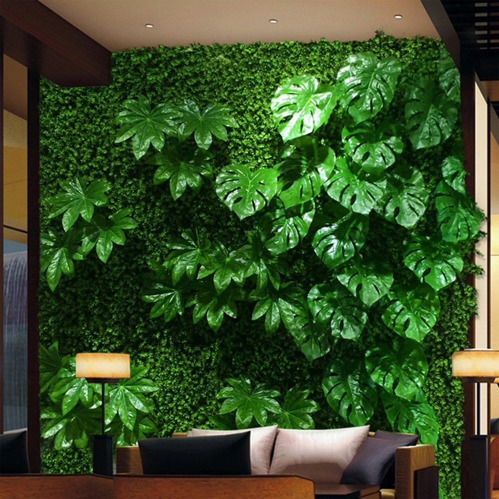 WENZHE 人工 フェイクアイビー 緑の植物のシミュレーション 壁掛け式 現実的な 芝生 グリーン 植物 縫うことができます 長い人生、 1㎡ (色 : 3 pieces) B07D8N44GQ 3 pieces 3 pieces