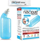 """Dr. Hana's Nasopure the """"Nicer Neti Pot""""   System Kit   8 Ounce Bottle With 20 Buffered Salt Packets   Allergy and…"""
