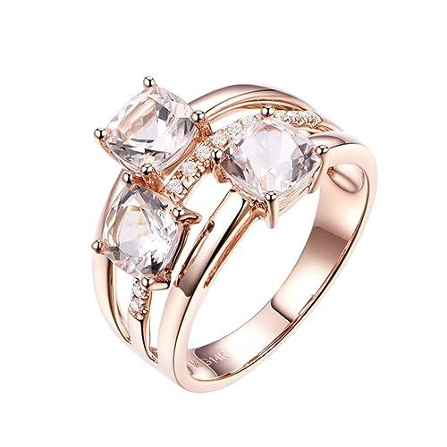 KnSam Joyas-Eres Muy Importante para Mí&Anillo Oro Compromiso Anillo de Diamante 3.18CT de