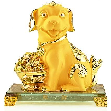 Image result for gold dog statue