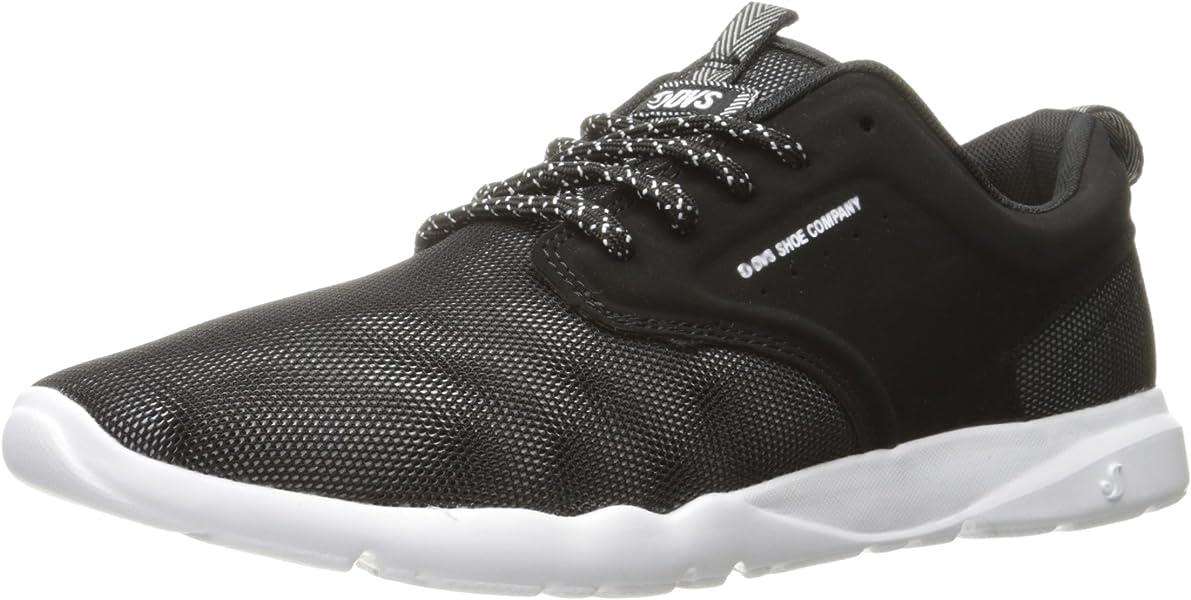 DVS Mens Premier 2.0 + SOCO Skateboarding Shoe, Black Moire Mesh, ...