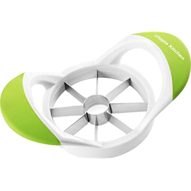 Utopia Kitchen Apple Slicer Cutter and Corer - Apple Wedger 430 Grade Stainless Steel - 8 Sharp Blades and Easy Grip - 100% Rust Resistant